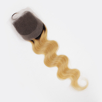 no shedding no tangle brazilian cheap ombre hair extension lace closure wholesale
