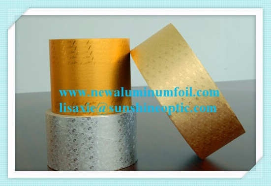 gold colorful composite aluminum foil paper / aluminum foil chocolate wrapping paper 8'*8'
