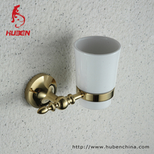 Bathroom wall mounted Gold cup holder