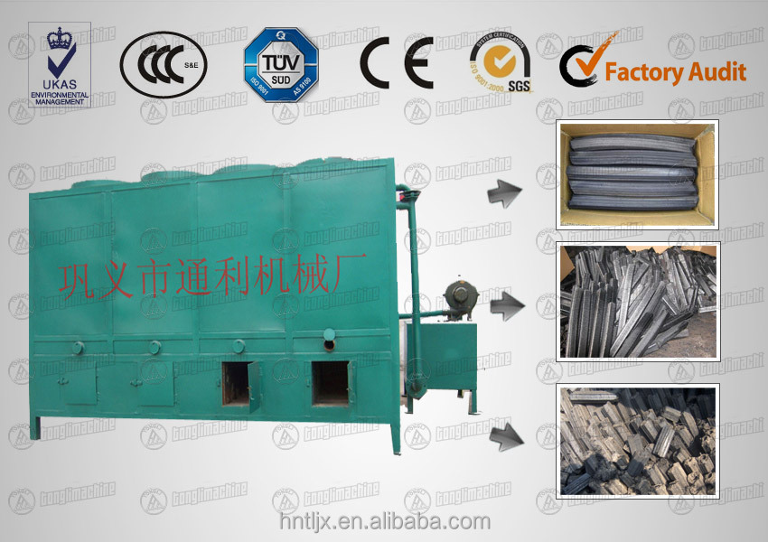 hotsale bamboo coal products--charcoal carbonization furnace made in Henan China