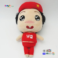 Cute girl rag doll plush toy for children