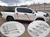ABS Chromed Decorative Door Handle Cover For Toyota Hilux Revo 4x4 Vigo 2015,For Toyota Fortuner 2016 on