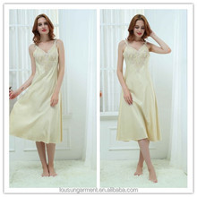 Women's Satin Silk Long Nightwear Sleepwear nightgowns