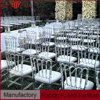 2016 wedding polypropylene plastic chair clear resin napoleon chair for sale