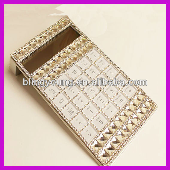 School hot selling crystal bling calculator for students BY 1848