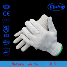 RL SAFETY Raw white or bleach white cotton gloves linyifactory price