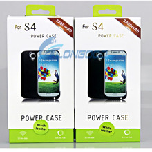 External Battery Charger Case With High Quality Leather cover For Samsung Galaxy S4 i9500