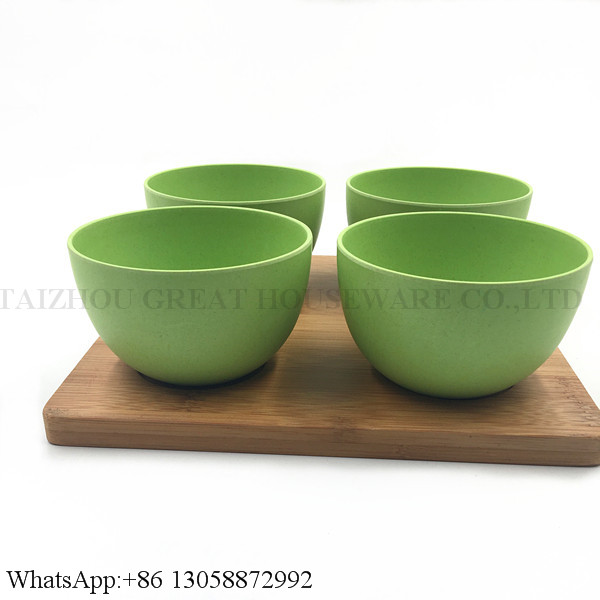 eco-friendly materials bamboo fiber snacks rice melamine fruits bowl set