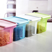 2017 new plastic clear fridge containers food rice cereal storage box dry food container kitchen storage bin disposable