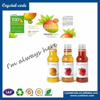 Sticker printing self adhesive soft drink eliquid bottle label