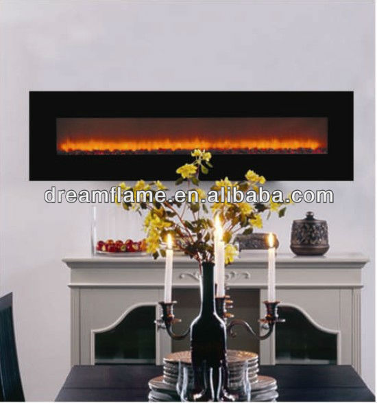 Cheap modern design wall mounted big view electric fireplace