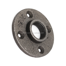 2017 Hot Selling Customzied Black Malleable Black Iron Fpt Floor Flange