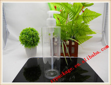 Clear PET plastic shampoo Spray bottle packaging for personal care