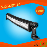 Cheap Off road,auto led light 20inch 120w curved led light bar