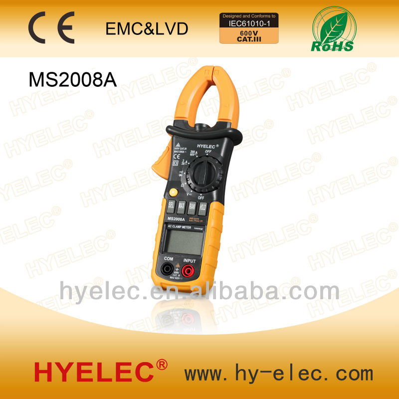 MS2008A AC/DC MINI Autorange digital Clamp Meter, digital multimeter