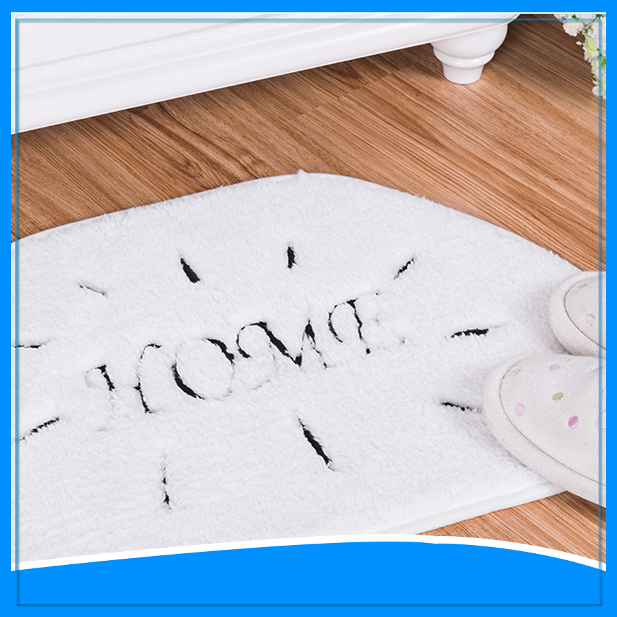 Cloud Shape Floor Mats Custom Embroider Bath Rug