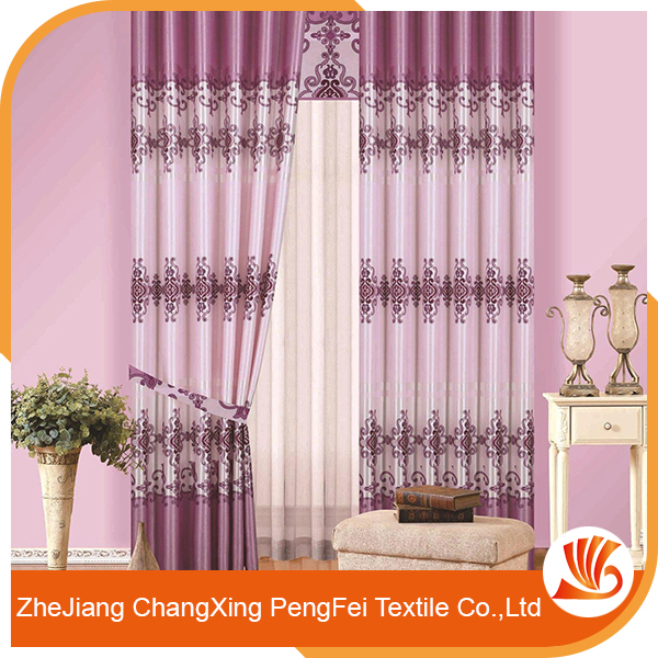 Hot sell continuous blackout curtain fabric