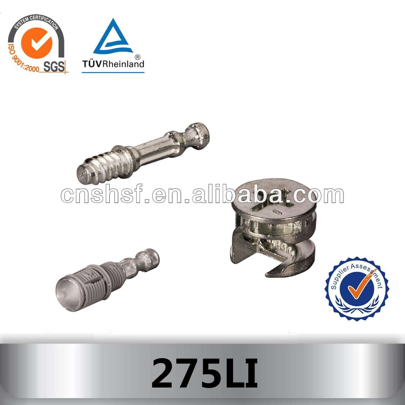 275LI furniture cam lock bolt and connector fitting