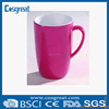 red melamine cup with handle