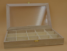 wooden watch box with glass lid ,customed wooden tea box