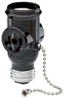 660 Watt, 125 Volt, Two Outlet With Pull Chain Socket duplex bulb socket