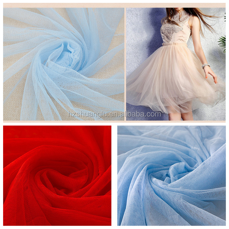 Polyester mesh fabric with embroidery for wedding/playpen/mosquito