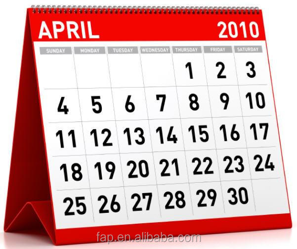 Top level bottom price elegant paper table calendar