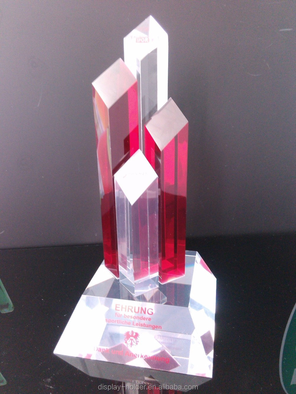Custom manufacture high quality acrylic award trophy