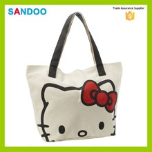 2016 China manufacturer hello kitty bags, hello kitty canvas woman handbag