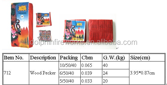 712 woodpecker firecrackers or Chinese cracker bomb fireworks