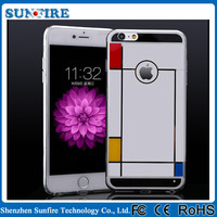 New crystal clear PC TPU case, for iPhone 6 case eletroplating, mobile phone protecting shell