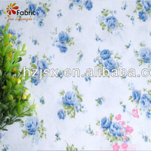 hotel 100% cotton satin stripe fabric floral vintage twill floral printed bedding fabric for bedding sets