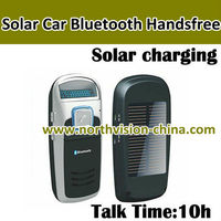 car bluetooth handsfree speakerphone with solar panel, MP3, FM, Multi Language, Call Display, Voice Dialing