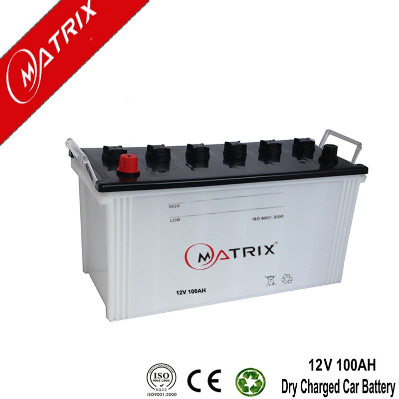 wholesale N100 JIS series high rate dry charged long life 12v 100ah car battery