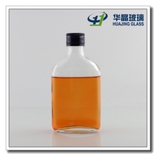 175ml clear wine glass flat whisky bottles for alcohol with metal cap