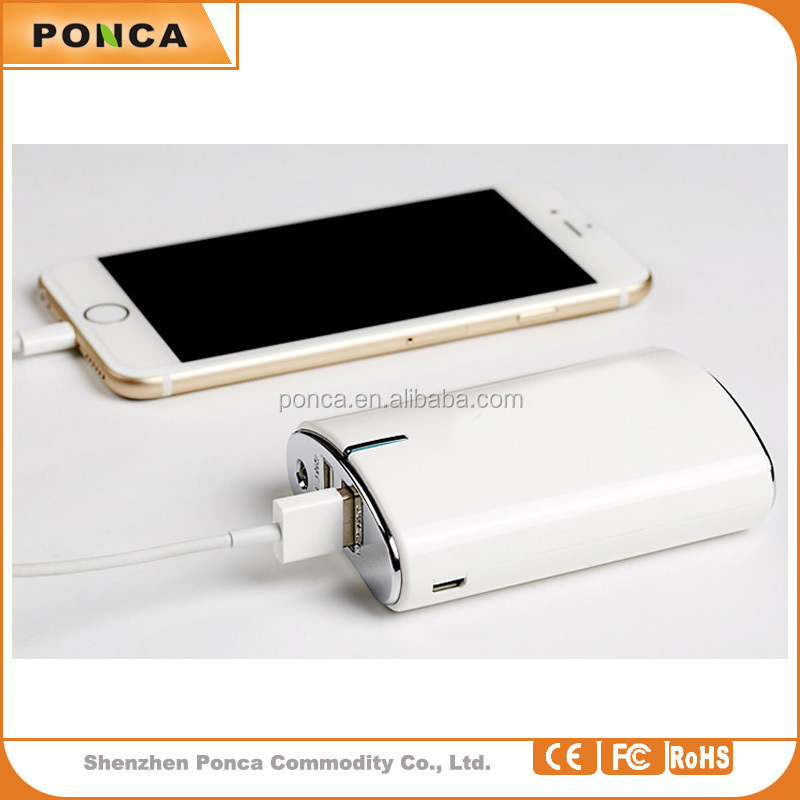 Portable 8800 mah Double USB travel charger ,smartphone fast charging power bank