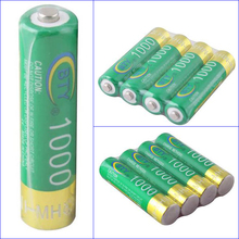 4PCS High Quanlity BTY Ni-MH AAA 1000mAh 1.2V Rechargeable Battery for MP3 Toys Green ECOS