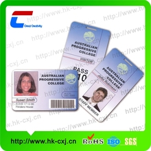 plastic id card tag and id card luggage tag for vip passenger or customer