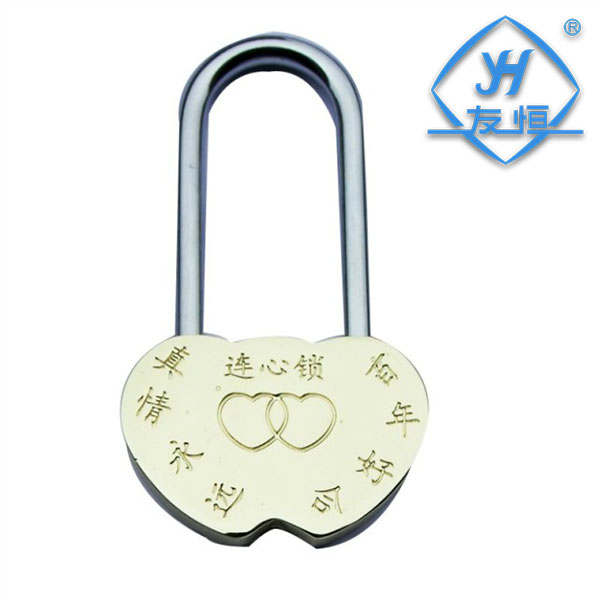 YH1040 50mm forever love padlock gift lock double heart padlock