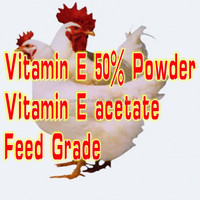 Feed Additives Vitamin E 50% Powder used in Fish Poultry as premix,premixcompound, Concentrate feed, compound feed