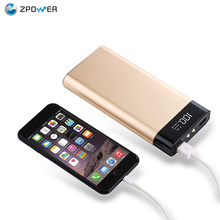 New products USB power supply mobile accessories charger disposable power bank flashlight dual usb 20000mah slim