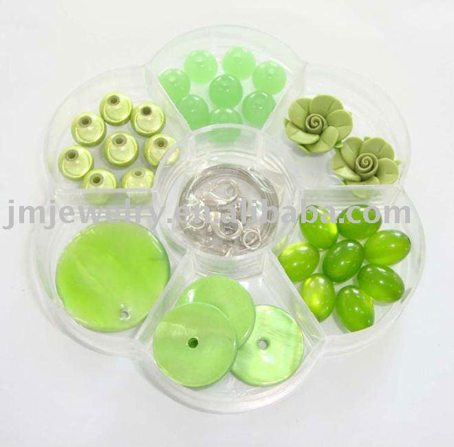 New pop bead Jewelry Beads diy green kit glass beads Crafts Arts Jewelry best gift for girls toy