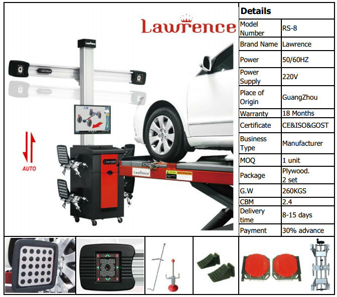 IE&CE&GOST Guangzhou lawrence computer wheel alignment equipment price