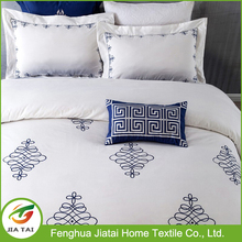 Classical embroidery pattern bedding comforter sets luxury hotel bed linen bedding set