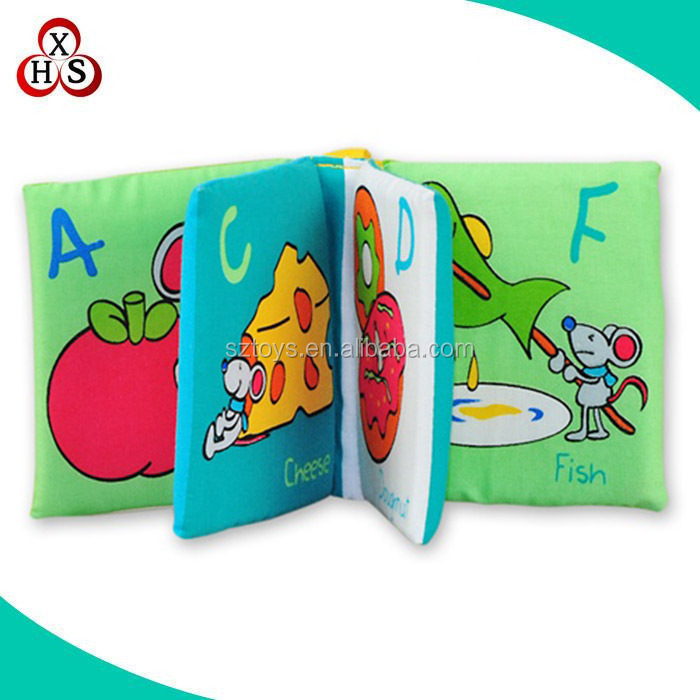 2016 Custom wholesale cheap soft baby cloth book,funny cloth book for baby