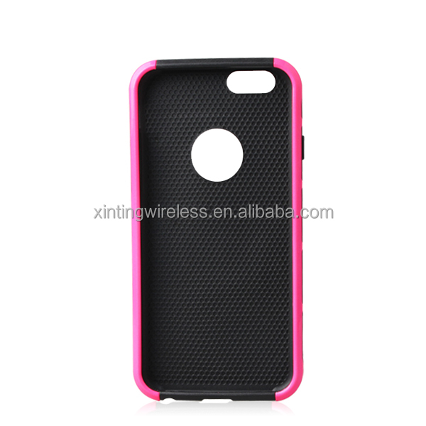 for iphone6 case, pc and tpu 2 in 1case for iphone6, shiny case for iphone6