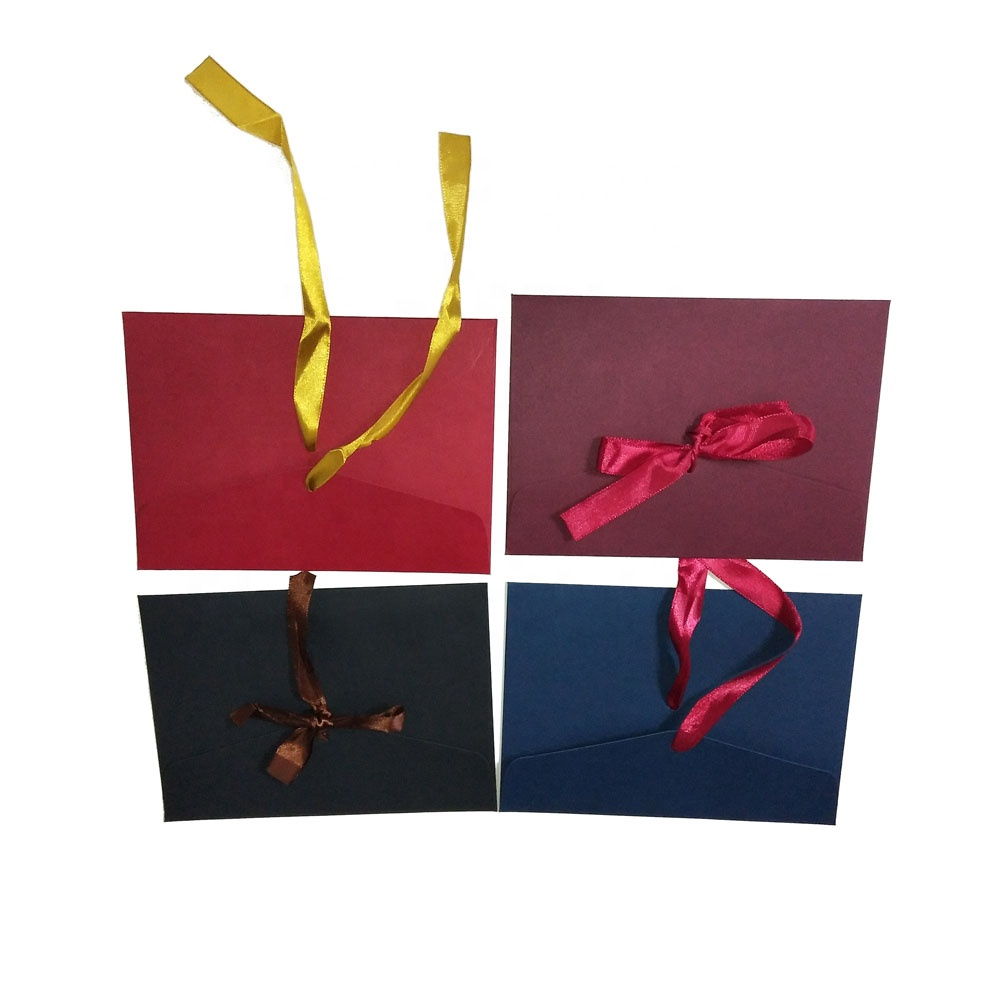 Bow tie red kraft paper letter envelope for wedding invitation card packaging