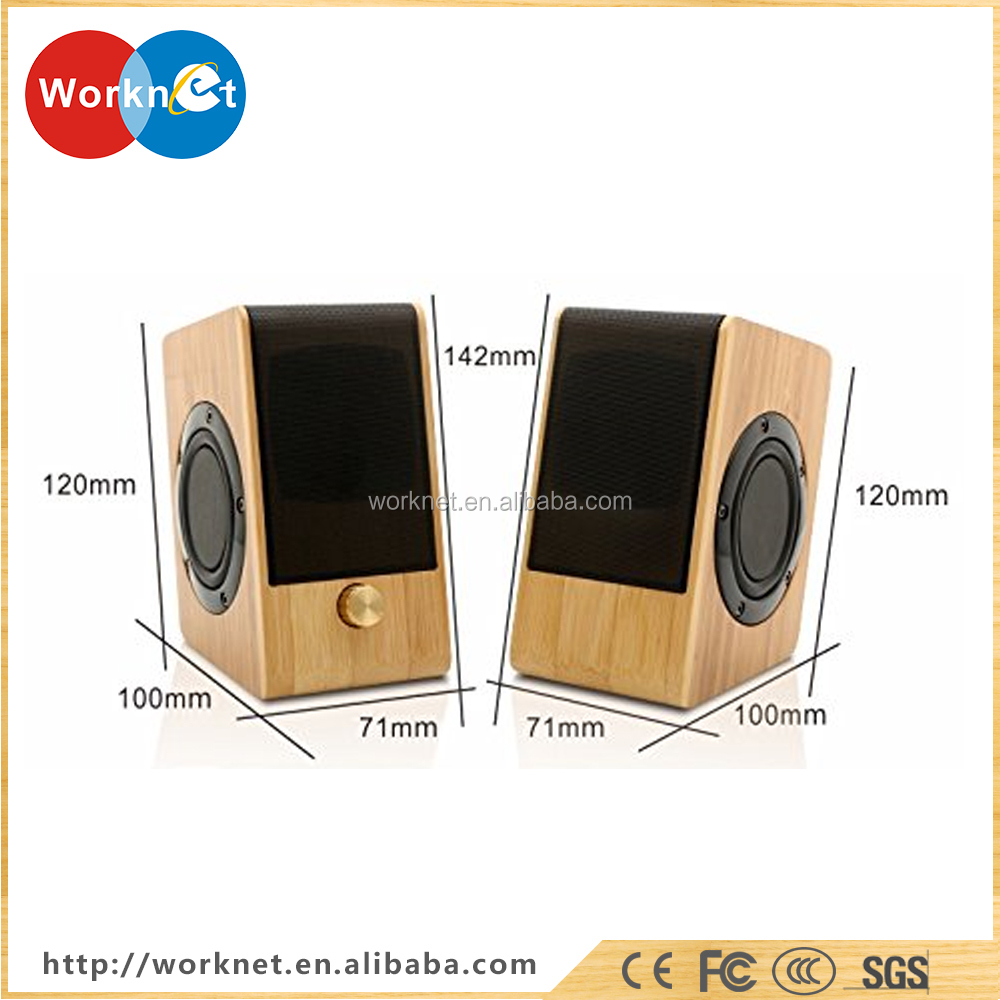 2017 Custom novelty bamboo wooden speaker box, bamboo speaker for computer
