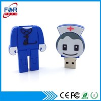 USB Flash Drive Corporate Gifts Interesting Bulk Cheap Price Nurse USB 2.0 for Promotion