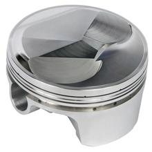 High performance engine piston with sealing ring